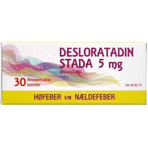 Køb DESLORATADIN TABL 5 MG (STADA online hos apotekeren.dk