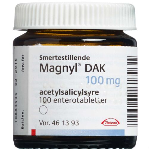 Køb MAGNYL ENTEROTABL 100 MG (DAK) online hos apotekeren.dk