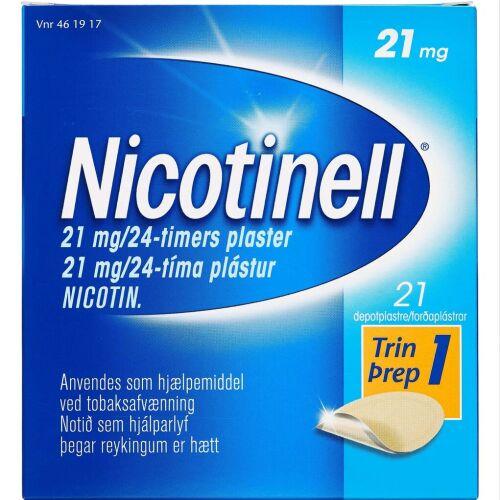 Køb NICOTINELL DEPOTPL. 21MG/24T online hos apotekeren.dk