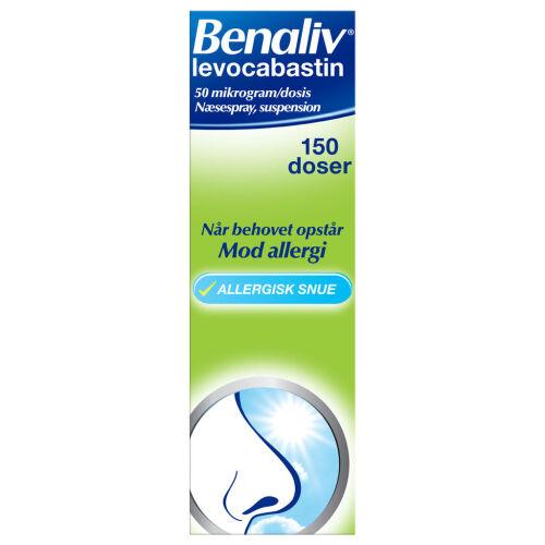 Køb BENALIV NÆSESPRAY 50 MIKG/DS online hos apotekeren.dk