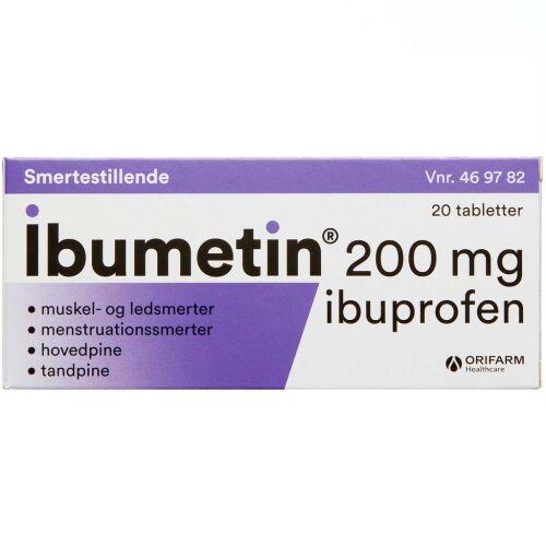 Køb IBUMETIN TABL 200 MG online hos apotekeren.dk