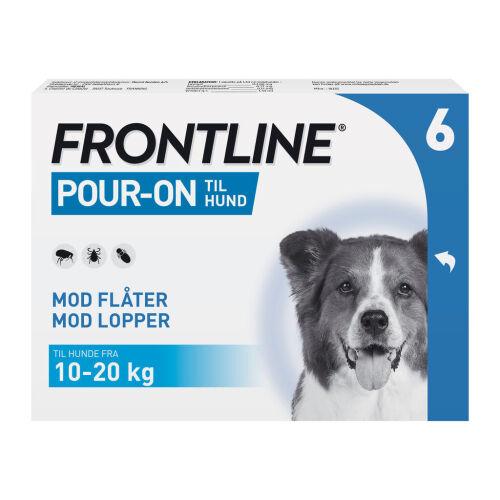 Køb Frontline Pour On Vet hund M (10-20 kg) 6 x 1,34 mg online hos apotekeren.dk