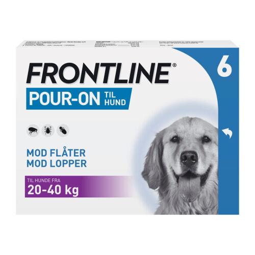Køb Frontline Pour on Vet hund L (20-40 kg) 6 x 2,68 ml online hos apotekeren.dk
