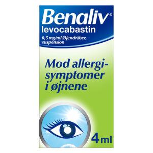 Køb BENALIV ØJENDRÅBER 0,5 MG/ML online hos apotekeren.dk