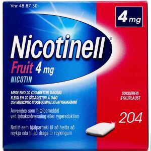 Køb NICOTINELL FRUIT TYGGEG 4MG online hos apotekeren.dk