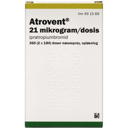 Køb ATROVENT NÆSESPRAY 21 MIKG/DS online hos apotekeren.dk