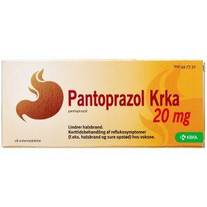 Køb PANTOPRAZOL ENTTABL 20 MG (KR online hos apotekeren.dk