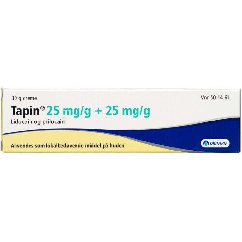 Køb TAPIN CREME 2,5% + 2,5% online hos apotekeren.dk