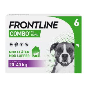 Køb Frontline Combo hund L (20-40 kg) 6 x 2,68 ml online hos apotekeren.dk