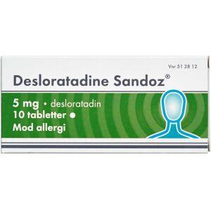 Køb DESLORATADINE TABL 5 MG (SAND online hos apotekeren.dk