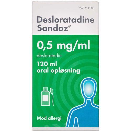 Køb DESLORATADINE OR.OPL 0,5 MG/ML online hos apotekeren.dk