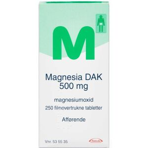 Køb MAGNESIA TABL 500 MG (DAK) online hos apotekeren.dk