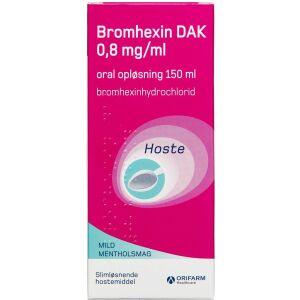 Køb BROMHEXIN OR.OPL 0,8MG/ML (DAK online hos apotekeren.dk