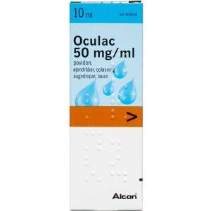 Køb OCULAC ØJENDRÅBER 50 MG/ML online hos apotekeren.dk