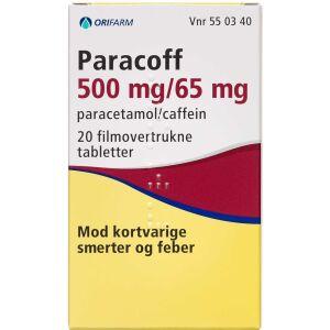 Køb PARACOFF TABL 500+65 MG (ORIF online hos apotekeren.dk