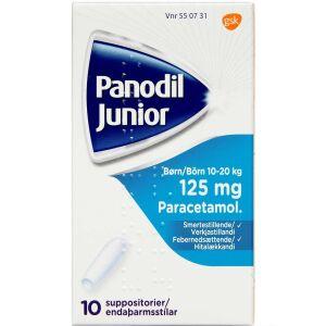 Køb PANODIL JUNIOR SUPP 125 MG online hos apotekeren.dk