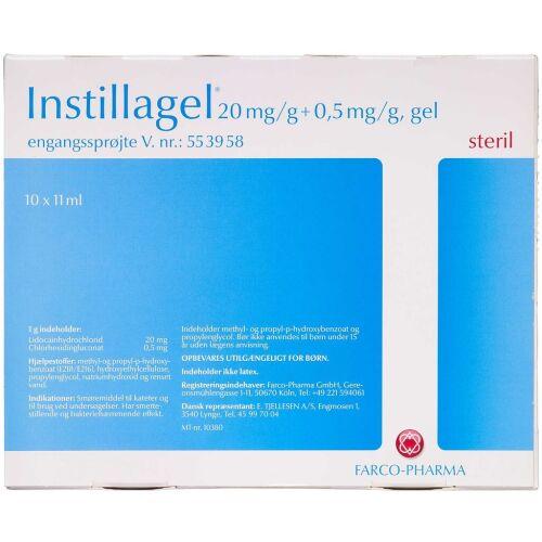 Køb INSTILLAGEL GEL 20+0,5 MG/G online hos apotekeren.dk
