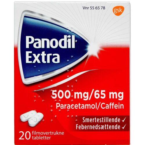 Køb PANODIL EXTRA TABL 500+65 MG online hos apotekeren.dk