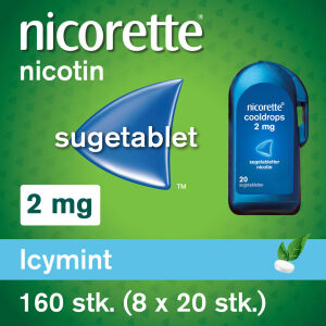 Køb NICORETTE COOLDROPS SUGETB 2MG online hos apotekeren.dk