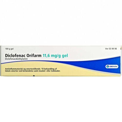 Køb DICLOFENAC GEL 11,6 MG/G (ORIF online hos apotekeren.dk