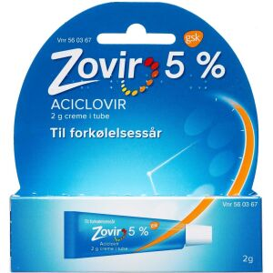 Køb ZOVIR CREME 50 MG/G online hos apotekeren.dk