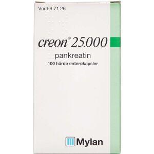 Køb CREON LIPASE 25.000 EP-E ENTKP online hos apotekeren.dk