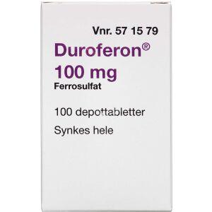 Køb DUROFERON DPTB 100 MG (2CARE4 online hos apotekeren.dk