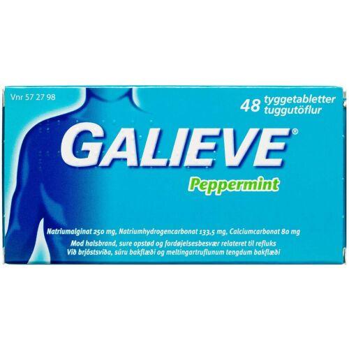 Køb GALIEVE PEPPERMINT TYGGETABL online hos apotekeren.dk