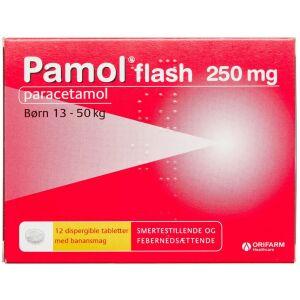 Køb PAMOL FLASH DISP.TABL 250 MG online hos apotekeren.dk