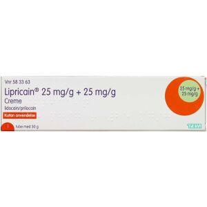 Køb LIPRICAIN CREME 25+25 MG/G online hos apotekeren.dk