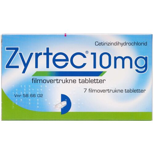 Køb ZYRTEC TABL 10 MG online hos apotekeren.dk
