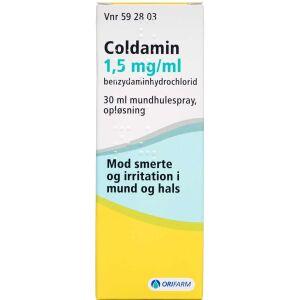 Køb COLDAMIN MUNDSPRAY 1,5 MG/ML online hos apotekeren.dk