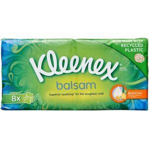 Køb Kleenex Balsam Lommepakning regulær 8 x 9 stk. online hos apotekeren.dk