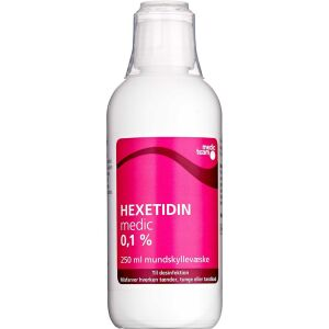 Køb Hexetidin mundskyllevæske 0,1 % 250 ml online hos apotekeren.dk