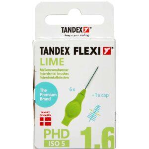 Køb TANDEX FLEXI Mellemrumsbørste - LIME 6 stk. online hos apotekeren.dk