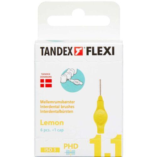 Køb TANDEX FLEXI Mellemrumsbørste - LEMON 6 stk. online hos apotekeren.dk