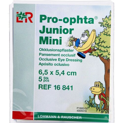 Køb Pro-ophta Junior Mini 6,5 x 5,4 cm 5 stk. online hos apotekeren.dk