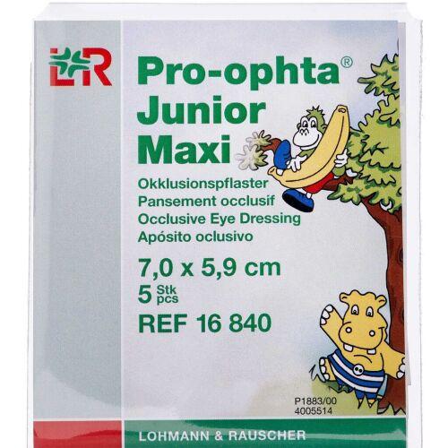 Køb Pro-ophta Junior Maxi skeleplaster til børn – 7,0 x 5,9 cm 5 stk. online hos apotekeren.dk