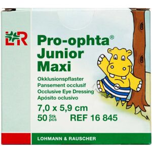 Køb Pro-ophta Junior Maxi skeleplaster til børn – 7,0 x 5,9 cm 50 stk. online hos apotekeren.dk