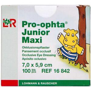 Køb Pro-ophta Junior Maxi skeleplaster til børn – 7,0 x 5,9 cm 100 stk. online hos apotekeren.dk