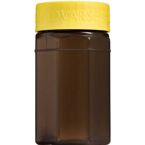Køb Kanylebeholder ottekantet 0,5 liter med gult låg 1 stk. online hos apotekeren.dk