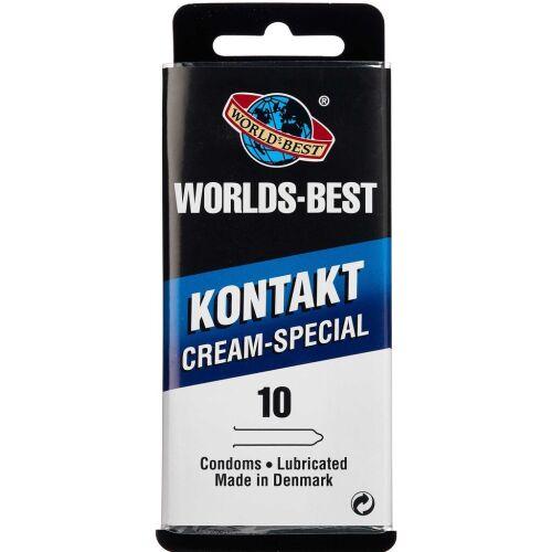 Køb Worlds-Best Kontakt Creme-Special kondom 10 stk. online hos apotekeren.dk