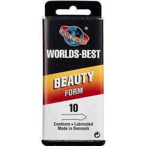 Køb Worlds-Best Beauty Form kondom 10 stk. online hos apotekeren.dk