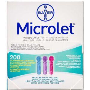 Køb Kulørte Microlet Lancetter (Glucolanz) online hos apotekeren.dk