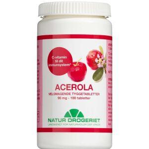 Køb Acerola C-vitamin Tyggetabletter 100 stk online hos apotekeren.dk