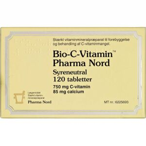 Køb Bio-C-Vitamin syreneutral tabletter 120 stk. online hos apotekeren.dk