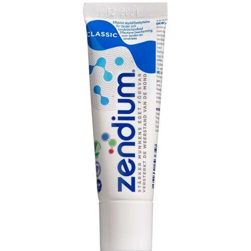 Køb Zendium Classic Tandpasta 15 ml online hos apotekeren.dk