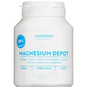 Køb APOTEKETS MAGNESIUM DEPOT 20% online hos apotekeren.dk