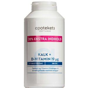 Køb Apotekets Kalk + D-vitamin 19 mikg 288 stk. online hos apotekeren.dk