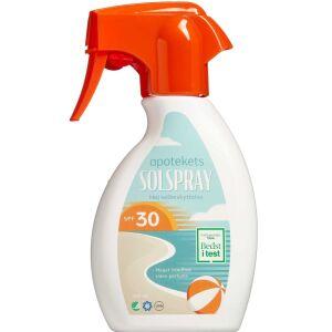 Køb Apotekets Sol Spray SPF30 250 ml online hos apotekeren.dk